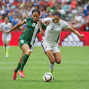 in 2015 women's World Cup Soccer in Vancouver during the first round action between USA and Nigeria.