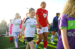 Mascot walkout- Mandatory by-line: Nizaam Jones/JMP - 27/10/2019 - FOOTBALL - Stoke Gifford Stadium - Bristol, England - Bristol City Women v Tottenham Hotspur Women - Barclays FA Women's Super League