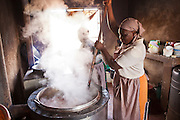 Mary Njeri and Jennifer Karimi are the cooks at St Patrick's primary school in Thika, Kenya.  The kitchen was built by AFCIC (Action for children in conflict) and Mary and Jennifer's wages are paid by AFCIC.  75% of the pupils are from the Kiandutu slum and the school run a feeding program helping over 250 children.