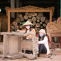 Vietnam | Craftvillage | Dong Ky | Wood furnitures | Hanoi area