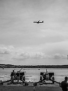 Taking Aim<br /> The 3rd United States Infantry Regiment Presidential Salute Battery sets up for the city's birthday celebration in Oronoco Bay Park in Alexandria, Virginia<br /> #airplane #airport @alexandriavagov #potomacriver#documentary #OlympusPenF