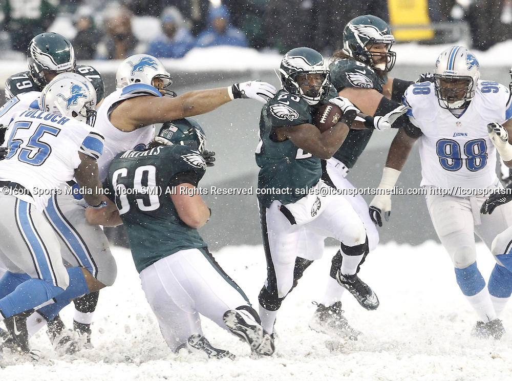 Dec. 8, 2013 - Philadelphia, PA, USA - Philadelphia Eagles' LeSean McCoy runs for his 2nd touchdown against the Detroit Lions at Lincoln Financial Field in Philadelphia on Sunday, Dec. 8, 2013. The Eagles won, 34-20