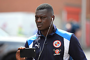 Reading striker Joseph Mendes (9) arrives at the City ground ahead of the EFL Sky Bet Championship match between Nottingham Forest and Reading at the City Ground, Nottingham, England on 22 April 2017. Photo by Jon Hobley.