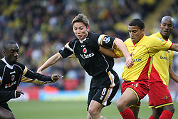London, England - Saturday, March 3, 2007: Charlton Athletic's Matt Holland in action in the game with Watford's Adrian Mariappa in the Premiership match at Vicarage Road. (Pic by Chris Ratcliffe/Propaganda)