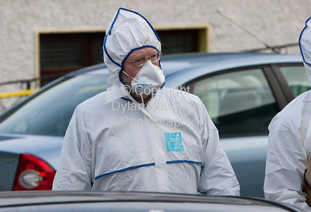 30/12/2008.Deputy State Pathologist Dr Michael Curtis pictured at the scene in Castlecomer County Kilkenny where a man was stabbed to death..Picture Dylan Vaughan