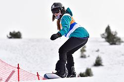 CLAY Kiana, SB-UL, USA, Banked Slalom at the WPSB_2019 Para Snowboard World Cup, La Molina, Spain