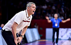 Ainars Bagatskis, head coach of Latvia during basketball match between National Teams of Slovenia and Latvia at Day 13 in Round of 16 of the FIBA EuroBasket 2017 at Sinan Erdem Dome in Istanbul, Turkey on September 12, 2017. Photo by Vid Ponikvar / Sportida