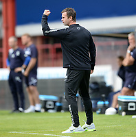 31/09/14 SCOTTISH PREMIERSHIP<br /> DUNDEE v CELTIC <br /> DENS PARK - DUNDEE<br /> Ronny Deila reacts to Celtic's equalising goal