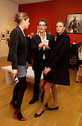 Stephanie Rutherford, Alex Lubomirski  and Jacquetta Wheeler, Cecil Beaton portraits, National Portrait Gallery, 4 February 2004. © Copyright Photograph by Dafydd Jones 66 Stockwell Park Rd. London SW9 0DA Tel 020 7733 0108 www.dafjones.com
