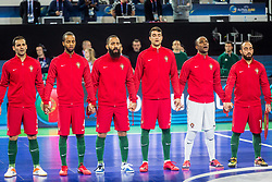 Portugal players during futsal match between Spain and Portugal in Final match of UEFA Futsal EURO 2018, on February 10, 2018 in Arena Stozice, Ljubljana, Slovenia. Photo by Ziga Zupan / Sportida