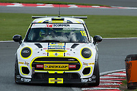 #15 Charlie BUTLER-HENDERSON MINI JCW during MINI Challenge - JCW as part of the BRDC British F3/GT Championship Meeting at Oulton Park, Little Budworth, Cheshire, United Kingdom. April 15 2017. World Copyright Peter Taylor/PSP.