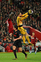 Football - 2019 / 2020 UEFA Champions League - Round of Sixteen, Second Leg: Liverpool (0) vs. Atletico Madrid (1)<br /> <br /> Liverpool's Sadio Mane battles with Atletico Madrid goalkeeper Jan Oblak, at Anfield.<br /> <br /> <br /> COLORSPORT/TERRY DONNELLY