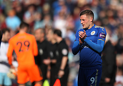 Jamie Vardy of Leicester City looks dejected at the final whistle - Mandatory by-line: Jack Phillips/JMP - 14/04/2018 - FOOTBALL - Turf Moor - Burnley, England - Burnley v Leicester City - English Premier League