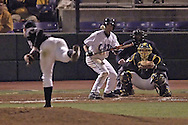 Kansas State's Eddie Vasquez looks to lay down a bunt against Wichita State pitcher Aaron Shafer.  K-State defeated the 19th ranked Shockers 6-3 at Tointon Stadium in Manhattan, Kansas, March 14, 2006.