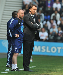 DARREN WASSALL MANAGER IDERBY COUNTY, Derby County v Ipswich Town Championship, IPro Stadium, Saturday 7th May 2016. Photo:Mike Capps