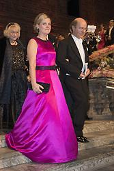 Magdalena Andersson, Frank Wilczek <br /> <br />  <br /> <br />  beim Nobelbankett 2016 im Rathaus in Stockholm / 101216 <br /> <br /> <br /> <br /> ***The Nobel banquet, Stockholm City Hall, December 10th, 2016***