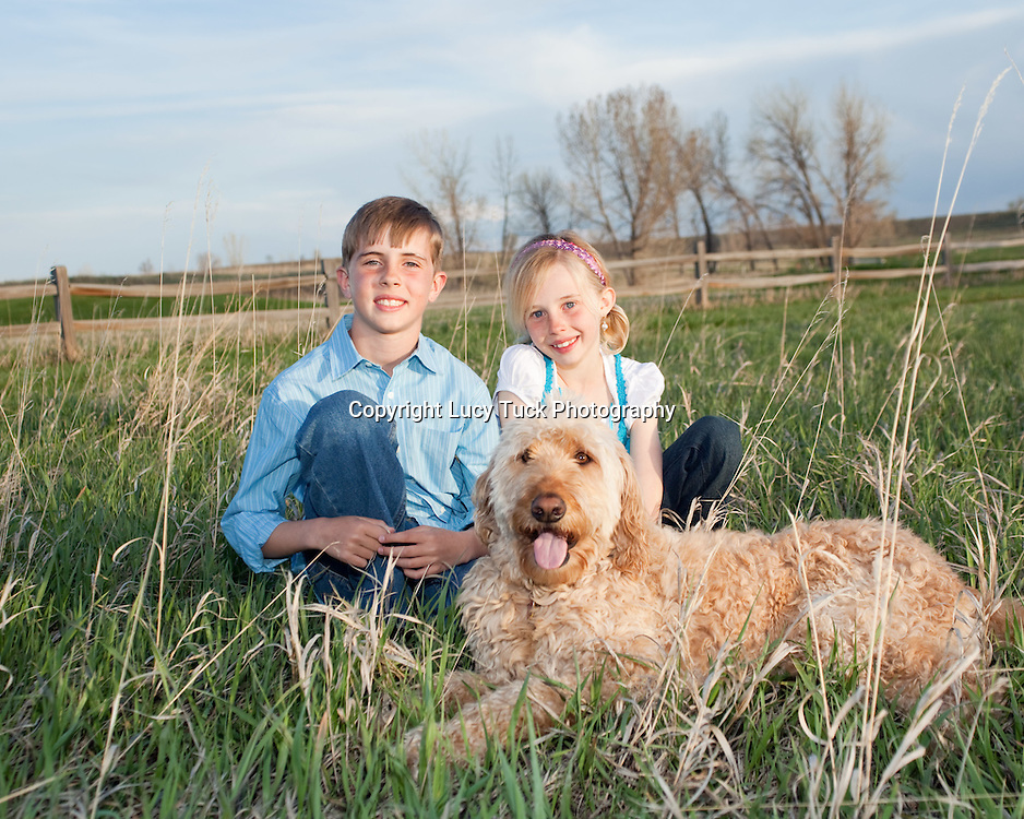 Family Pictures, Children with dog, Natural Portraits, Outdoor Portraits, Boulder