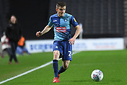 Wycombe Wanderers midfielder Jacob Gardiner-Smith (24) looks to release the ball during the EFL Trophy match between Milton Keynes Dons and Wycombe Wanderers at stadium:mk, Milton Keynes, England on 12 November 2019.