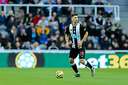Federico Fernandez (#18) of Newcastle United on the ball during the Premier League match between Newcastle United and Bournemouth at St. James's Park, Newcastle, England on 9 November 2019.