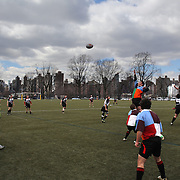 Action during the Four Leaf 15's Club Rugby Tournament at Randall's Island New York. The tournament included 70 teams in 6 divisions, organized by the New York City Village Lions RFC. Randall's Island, New York, USA. 23rd March. Photo Tim Clayton