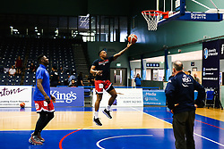 Panos Mayindombe of Bristol Flyers - Rogan/JMP - 19/04/2019 - BASKETBALL - University of Worcester Arena - Worcester, England. - Worcester Wolves v Bristol Flyers - British Basketball League.