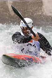 Daniele Molmenti of Italy competes in the Men's Kayak K1 at Kayak & Canoe ICF slalom race Tacen 2010 on May 16, 2010 in Tacen, Ljubljana, Slovenia. (Photo by Vid Ponikvar / Sportida)