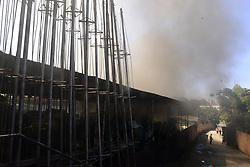 September 3, 2017 - SâO Paulo, São Paulo, Brazil - Fire destroys a samba school in Sao Paulo, Brazil, on 3 September 2017. Firefighters fight the flames. No victim. (Credit Image: © Cris Faga/NurPhoto via ZUMA Press)