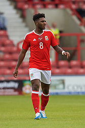 WREXHAM, WALES - Friday, September 2, 2016: Wales' Ellis Harrison in action against Denmark during the UEFA Under-21 Championship Qualifying Group 5 match at the Racecourse Ground. (Pic by Paul Greenwood/Propaganda)
