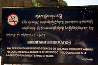 BU00008-00...BHUTAN - Anti-tobacco laws by the Bhutanese government. Smoking is discouraged by the government and by Buddhism.