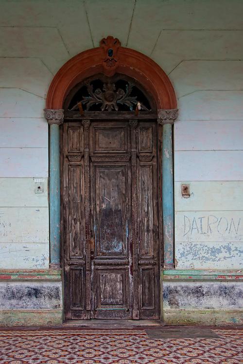 Door in Guayos, Sancti Spiritus, Cuba.