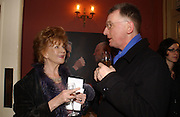 Edna O'Brien and Michael Straughan, Opening night of Embers, Duke of York's theatre. St. Martin's Lane. London. 1 March 2006. ONE TIME USE ONLY - DO NOT ARCHIVE  © Copyright Photograph by Dafydd Jones 66 Stockwell Park Rd. London SW9 0DA Tel 020 7733 0108 www.dafjones.com