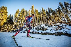 Aleksandrs Patrijuks (LAT) in action during the Men 10km Sprint at day 6 of IBU Biathlon World Cup 2018/19 Pokljuka, on December 7, 2018 in Rudno polje, Pokljuka, Pokljuka, Slovenia. Photo by Vid Ponikvar / Sportida
