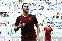 Esultanza Gol Edin Dzeko Roma Goal celebration 0-2 <br /> Roma 03-04-2016 Stadio Olimpico Football Calcio Serie A 2015/2016 Lazio - AS Roma Foto Andrea Staccioli / Insidefoto