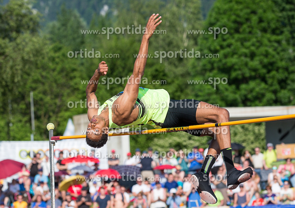 28.05.2016, Moeslestadion, Goetzis, AUT, 42. Hypo Meeting Goetzis 2016, Zehnkampf der Herren, Hochsprung, im Bild Jeremy Taiwo (USA) // Jeremy Taiwo of United States in action during the high jump event of the Decathlon competition at the 42th Hypo Meeting at the Moeslestadion in Goetzis, Austria on 2016/05/28. EXPA Pictures © 2016, PhotoCredit: EXPA/ Peter Rinderer