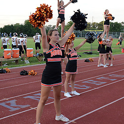 Staff photos by Tom Kelly IV<br /> Marple - Newtown cheerleaders do a cheer during Friday nights football game at Academy Park in Sharon Hill.