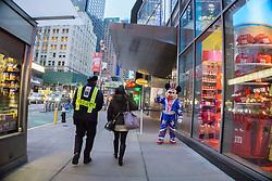 New York City street scene, 2015