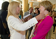 (L) Joanna Despotopoulou - President of the Special Olympics OC Athens 2011 & (R) Mary Davis - Director of Europe Eurasia Region Special Olympics while 2011 Special Olympics World Summer Games Athens on June 25, 2011..The idea of Special Olympics is that, with appropriate motivation and guidance, each person with intellectual disabilities can train, enjoy and benefit from participation in individual and team competitions...Greece, Athens, June 25, 2011...Picture also available in RAW (NEF) or TIFF format on special request...For editorial use only. Any commercial or promotional use requires permission...Mandatory credit: Photo by © Adam Nurkiewicz / Mediasport