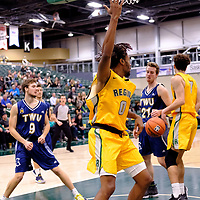 4th year guard, Gresihe Clerjuste (0) of the Regina Cougars in action during the Regina Cougars vs Lethbridge game on November 2 at University of Regina. Credit Matte Black Photos/©Arthur Images 2018