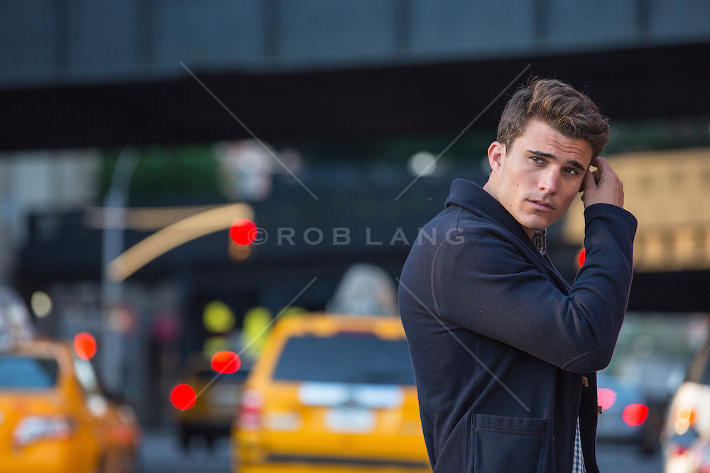 portrait of a man on the street in New York City