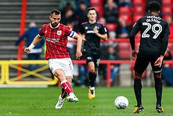 Bailey Wright of Bristol City is challenged by Marcus Olsson of Derby County - Rogan/JMP - 16/09/2017 - Ashton Gate Stadium - Bristol, England - Bristol City v Derby County - Sky Bet Championship.