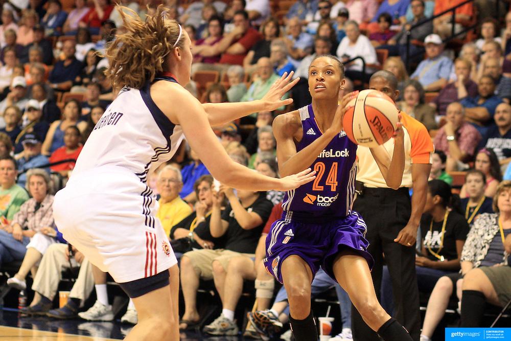 DeWanna Bonner, Phoenix Mercury, in action during the Connecticut Sun V Phoenix Mercury, WNBA regular season game at Mohegan Sun Arena, Uncasville, Connecticut, USA. 29th June 2013. Photo Tim Clayton