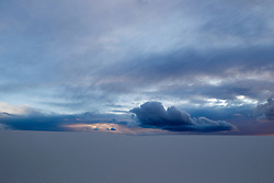 dramatic landscape at dusk in White Sands, NM
