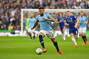 Nicolas Otamendi (30) of Manchester City on the attack during the Carabao Cup Final match between Chelsea and Manchester City at Wembley Stadium, London, England on 24 February 2019.