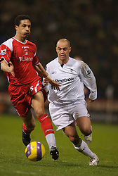 Bolton, England - Wednesday, January 31, 2007: Bolton Wanderers' Stelios Giannakopoulos and Charlton Athletic's Talal El Karkouri during the Premiership match at the Reebok Stadium. (Pic by David Rawcliffe/Propaganda)