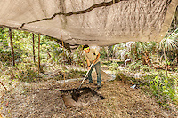 Cannon's Pt., St. Simons Island archaeology dig 2014