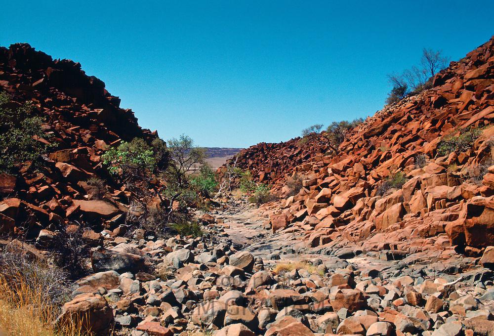 Deep gorge in Karratha,  Australia, an Aboriginal heritage site.