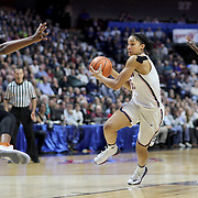UNCASVILLE, CONNECTICUT- DECEMBER 4: Gabby Williams #15 of the Connecticut Huskies drives to the basket defended by Joyner Holmes #24 of the Texas Longhorns during the UConn Huskies Vs Texas Longhorns, NCAA Women's Basketball game in the Jimmy V Classic on December 4th, 2016 at the Mohegan Sun Arena, Uncasville, Connecticut. (Photo by Tim Clayton/Corbis via Getty Images)