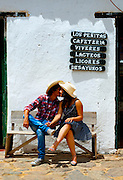 Colombia, Villa de Leyva, Boyaca Province, Colonial Town, Colombian Couple, Model Released