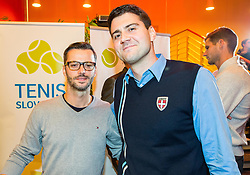 Bruno Nikolic and Gasper Pogacnik during Slovenian Tennis personality of the year 2017 annual awards presented by Slovene Tennis Association Tenis Slovenija, on November 29, 2017 in Siti Teater, Ljubljana, Slovenia. Photo by Vid Ponikvar / Sportida