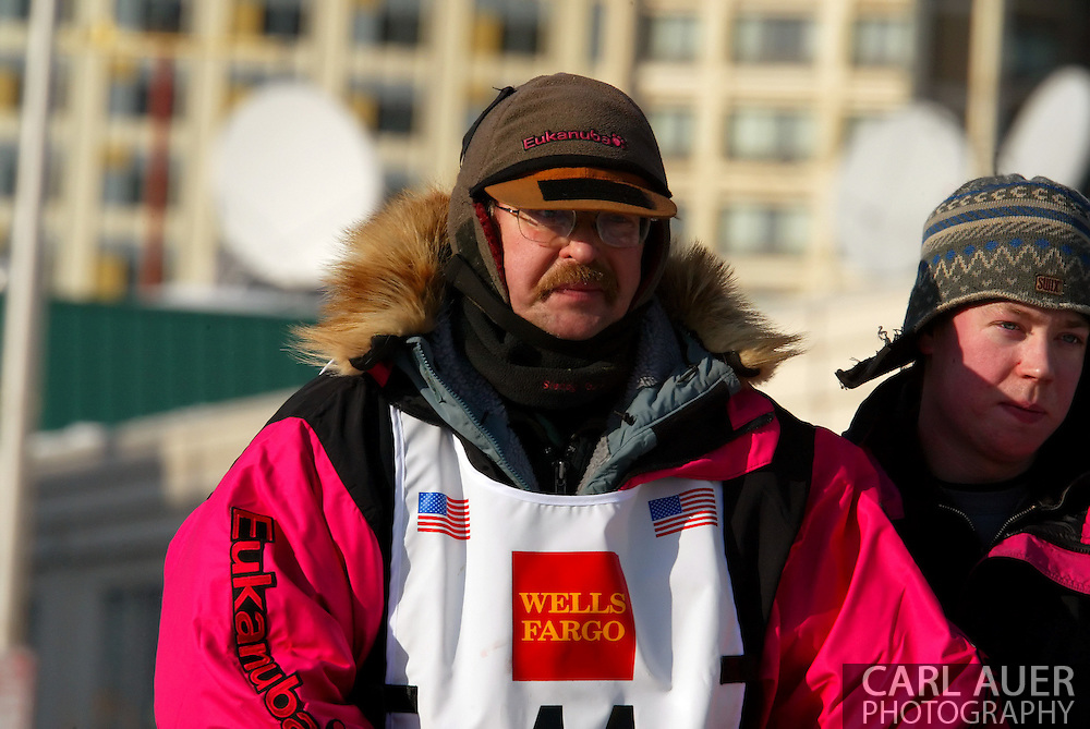 3/3/2007:  Anchorage Alaska -  Veteran Rick Swenson of Two Rivers, AK during the Ceremonial Start of the 35th Iditarod Sled Dog Race